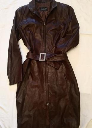 Пальто gucci оригинал,кожа