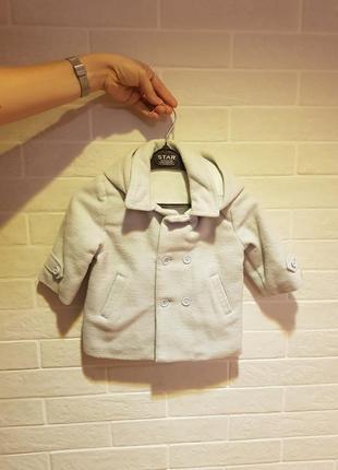 Теплое стильное универсальное пальто от chicco
