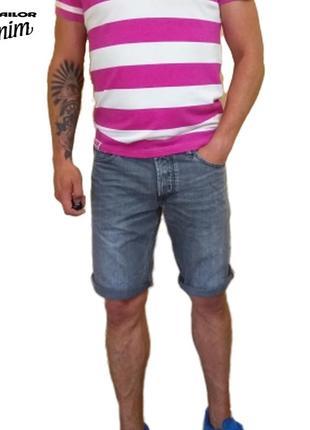 Мужские джинсовые серые шорты tom taylor denim