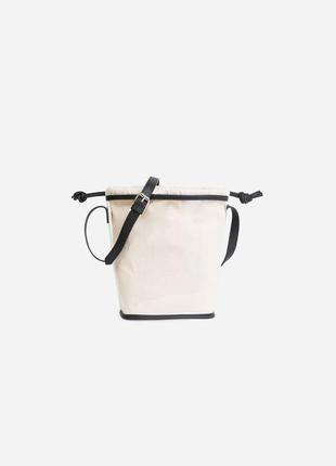 Прозрачная виниловая сумка с мешочком lefties (zara)