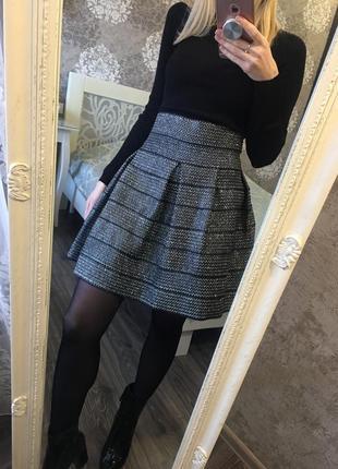 Мерцающая юбка с люрексом