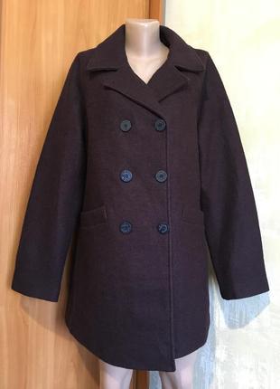 Двубортное шерстяное пальто,полупальто,реглан!!