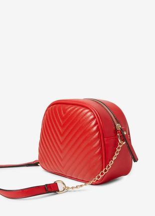 Сумка красная кроссбоди на длиной ручке сумочка через плече
