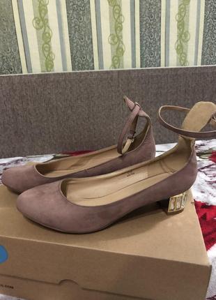 Пудровые замшевые туфли от asos