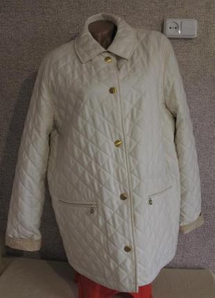Двухсторонняя (2 в 1) стеганая деми куртка оверсайз  размер eur 42/ 44