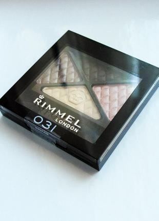 Тени для век rimmel glam eyes quad eyeshadow