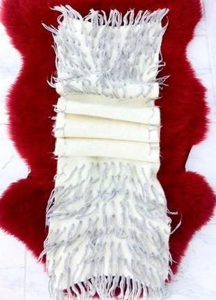 Длиный ангоровый шарф. шарфик. палонтин. шапка. перчатки. варежки. h&m