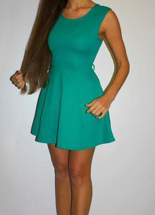 Ярко зеленое платье - ткань вафелька ( на фото не тот цвет)
