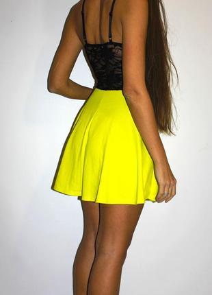 Яркое платье с гипюровой спинкой- ткань вафелька!2