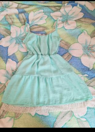 Женское романтическое летнее платье bershka s размер