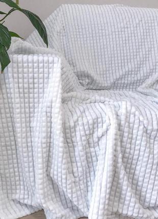 Велюровое покрывало кубик или полоска шарпей