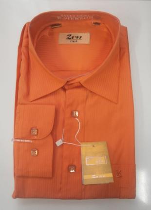 Стильная мужская рубашка zews italy с длинным рукавом р 42/176-182