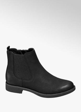 Черные стильные демисезонные ботинки челси немецкого бренда из новой колекции