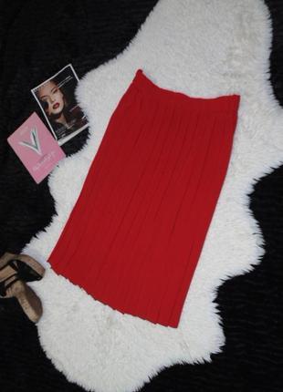 Шикарная юбка прямого фасона/плиссе/16 размер
