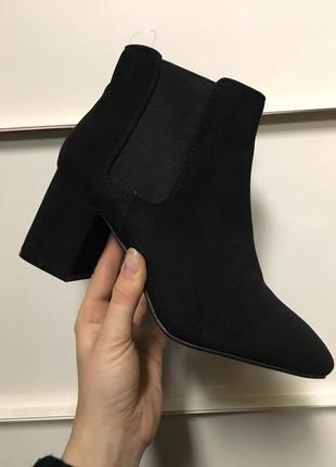 Ботильены сапоги ботинки на каблуке челси h&m