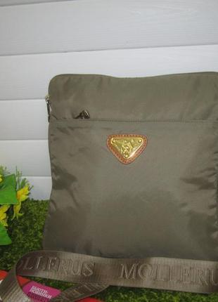 Бомбезная сумка швейцарского люксового!!! бренда mollerus