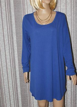 Трикотажное платье -туника