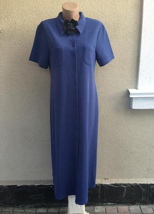 Винтаж,платье-халат-рубашка,фактурная,трикотаж в рубчик ткань,большой размер