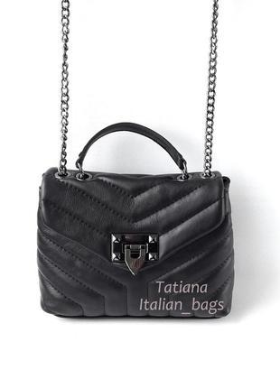 Новинка. стеганая кожаная сумка клатч с замочком. италия