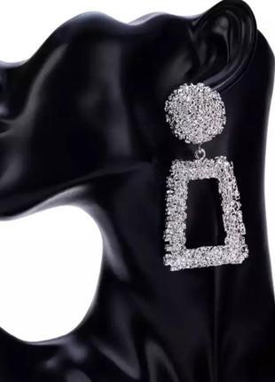 Вечерние винтажные в стиле zara серьги геометрия сережки