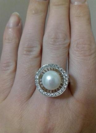 Серебряное кольцо с культивированной жемчужиной