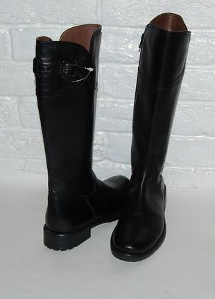 Сапоги черные кожа кожаные осенние италия 37 р-р 24 см kickers