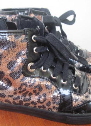 Кеды ботинки с пайетками michael kors 2р наш 32 р. по стельке 21 см