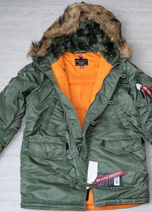 Куртка аляска парка alpha industries n 3b slim fit parka оригинал  сша