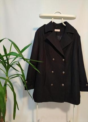 Пальто шерстяное демисезонное большой размер