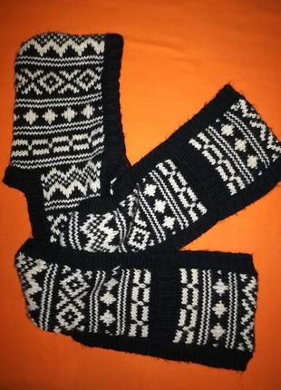 Тёплый, мягкий и стильный капор - шарф с кармашками от f/f!