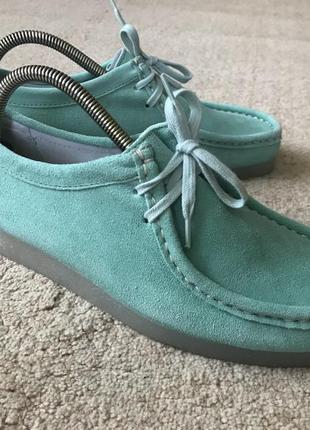 Фирменные туфли, топсайдеры натуральный замш bronx 26 см