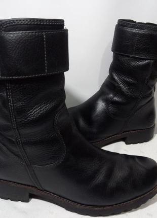 Кожаные сапоги,ботинки timberland (тимберлэнд) atrus mid smooth, 42р,стелька27см