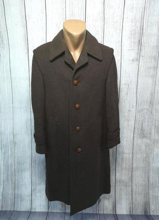 Пальто плотное frey lodefrey, 46 (s), коричневое, длинное, как новое!