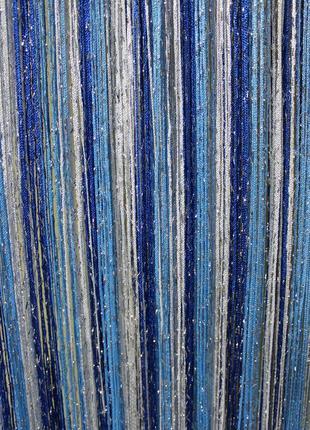 Нитяные шторы, кисея, дождь2