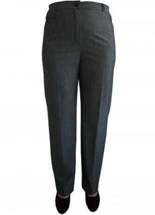 Классические темно-серые брюки батал
