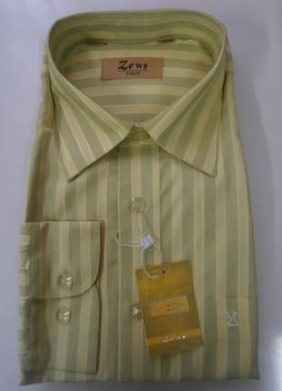 Стильная мужская рубашка zews с длинным рукавом р 42/176-182, 43/176-182