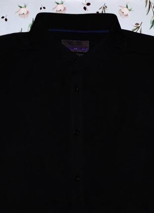Акция 1+1=3 фирменная базовая черная рубашка burton, размер 48-50