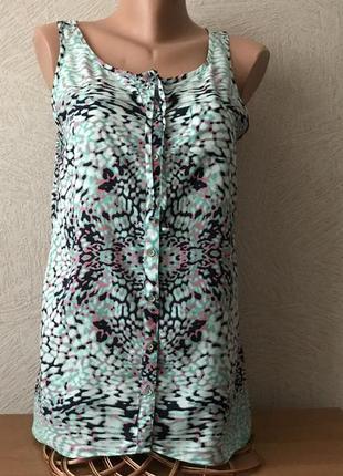 S.oliver-тончайшая, супер комфортная,блузка, майка-разлетайка, сост.новой
