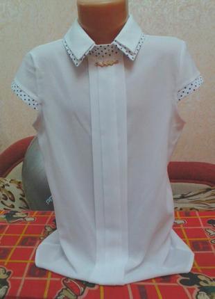 Нарядная блузка р 38 на 8-10 лет