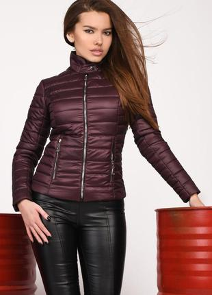 Модная короткая куртка демисезонная р-ры 42-48 ls-8820 разные цвета