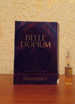 Пробник духов yves saint laurent belle d`opium