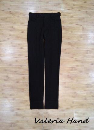 Мужские строгие офисные узкие черные брюки - размер 46
