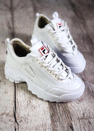 Кожаные кроссовки в стиле фила fila. 36-40