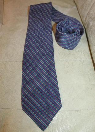 Винтажный шелковый галстук christian dior, франция