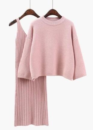Комплект платье + свитер