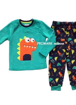 Пижама пушистый флис дино для мальчика (86, 92 см) primark