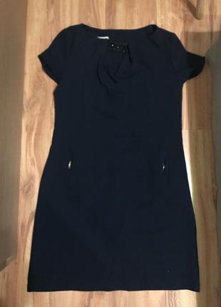 Темно синя вечірня сукня