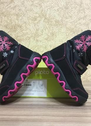 Демисезонные сапожки ботиночки для девочки {22 размер} демі чобітки plato еврозима