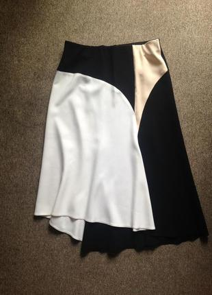 Zara новая трапецевидная юбка миди с биркой