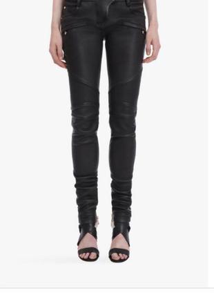 Классные кожаные штаны balmain